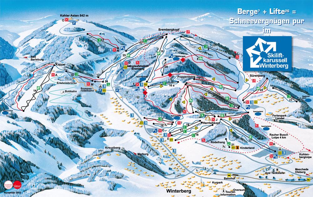 Pisteplan Winterberg